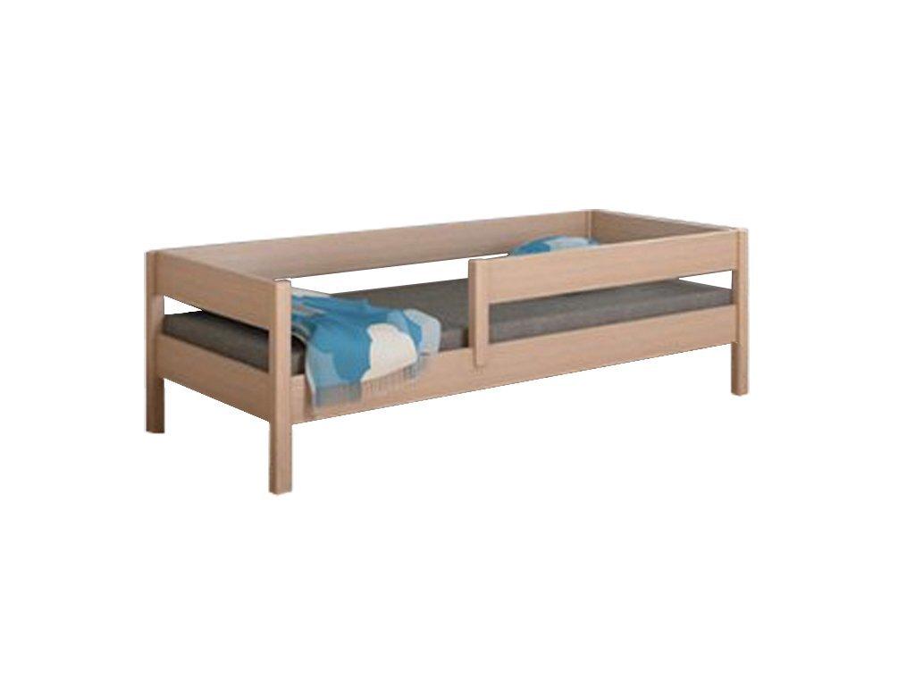 MIX 140x70 Dub bielený detská posteľ