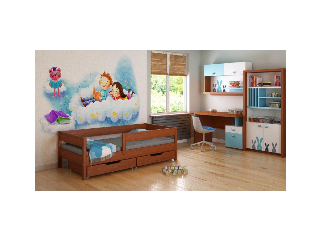 MIX 180x80 palisander detská posteľ