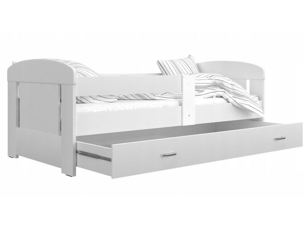 Jakub Color 200x80 posteľ  + úložný box biele