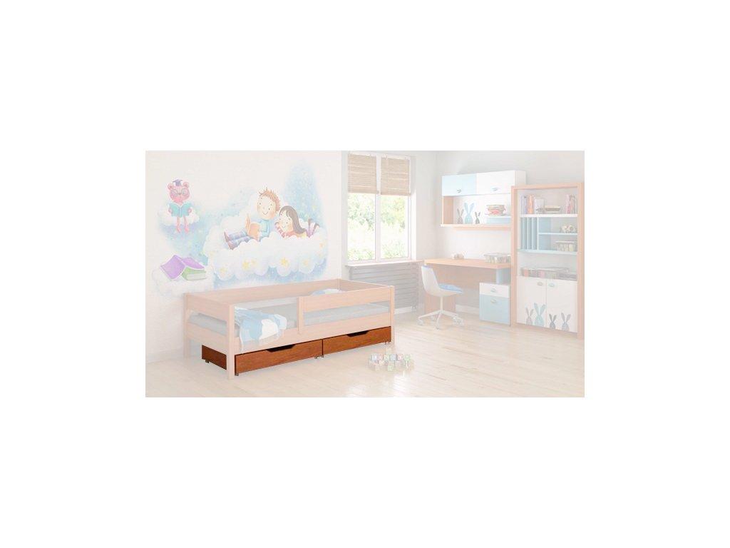 úložné boxy pod posteľ Mix 140x70 teak