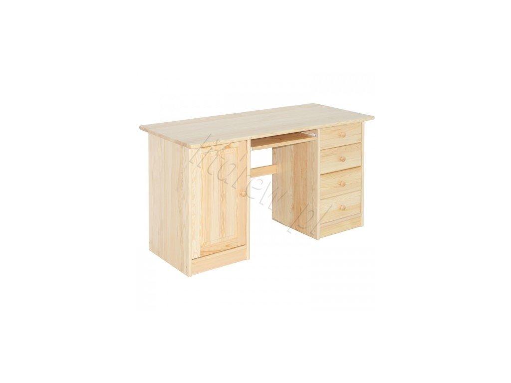 18e60932d78ff Borovicový písací stôl pre deti BR06 z masívu