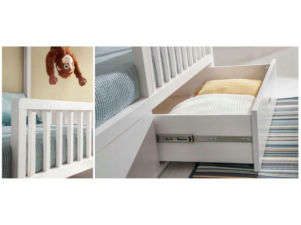 Detská posteľ domček 200x90