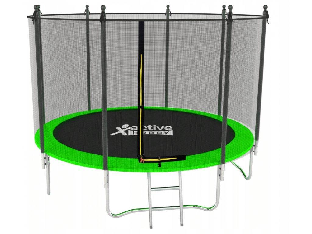 G21 250cm + ochranná sieť trampolína zelená