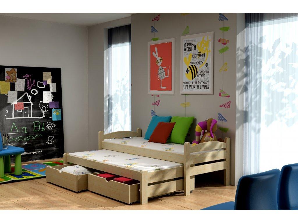 826f2d8c833ef Rozkladacia posteľ s prístelkou a zásuvkami