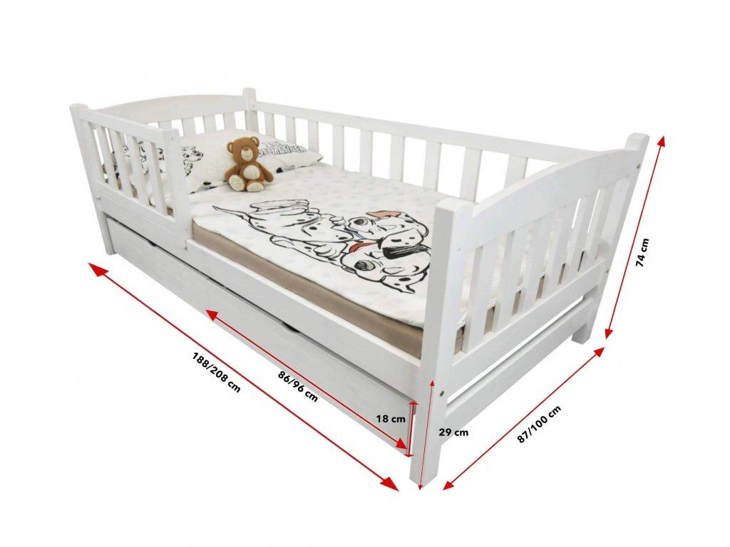 Detská posteľ Oľga 2 (180x80 cm) s úložnými priestormi - viac farieb