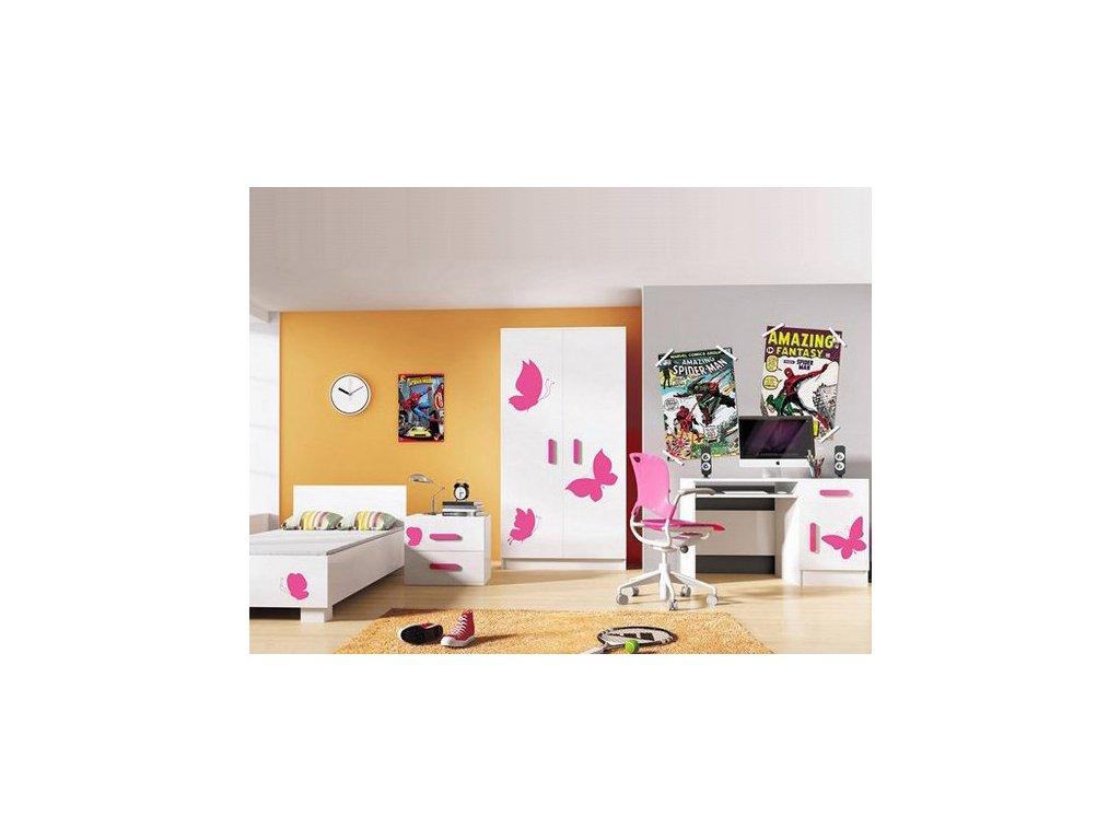Detská izba pre dievča LOOP motýliky - vzor 5