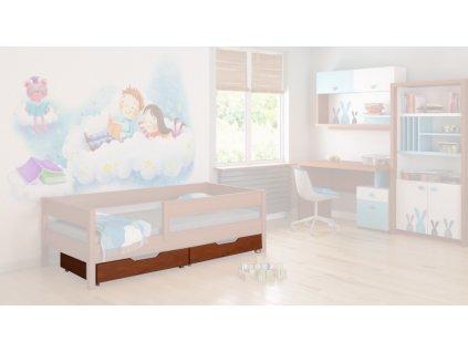 Úložné boxy pre posteľ Mix 140x70 - palisander