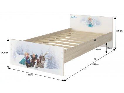 Max 180x90 detská posteľ