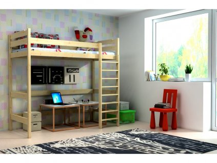 Vyvýšená posteľ pre deti Texas 180x80 dub