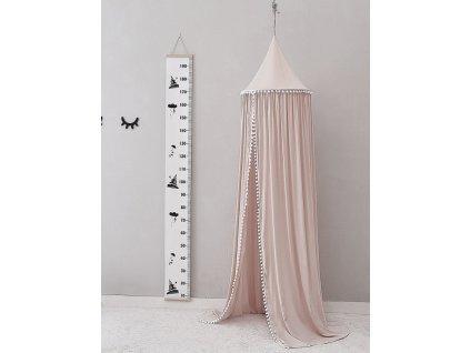 Bavlnený baldachýn nad posteľ