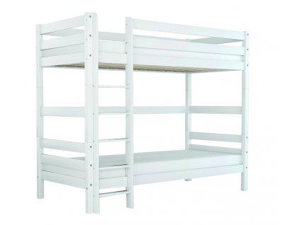 Poschodová posteľ Oliver 2 200x90 s bariérou - biela - výpredaj