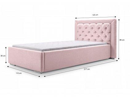 Detská čalúnená posteľ Valerie 200x90