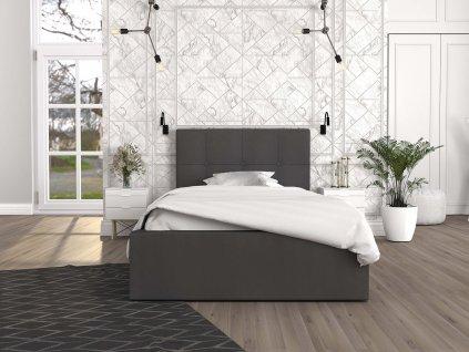 Čalúnená posteľ Ingrit 200x90 - grafit