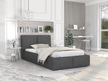 Čalúnená posteľ Izabela 200x90 - grafit