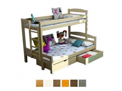 Petra 4 200x120 Poschodová posteľ s rozšíreným spodným lôžkom