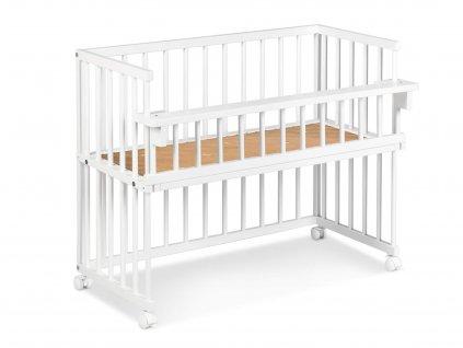 Biela postieľka k posteli piccolo due