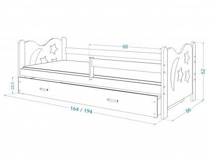 Detská posteľ Mickey - biela