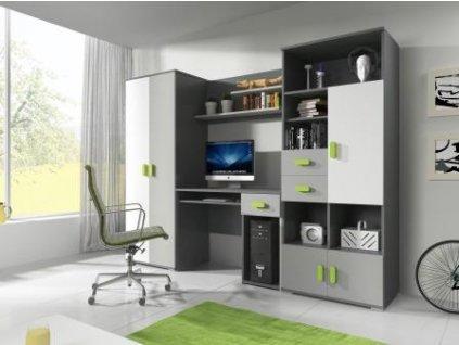 Študetská izba Tomi Sivo-zelená