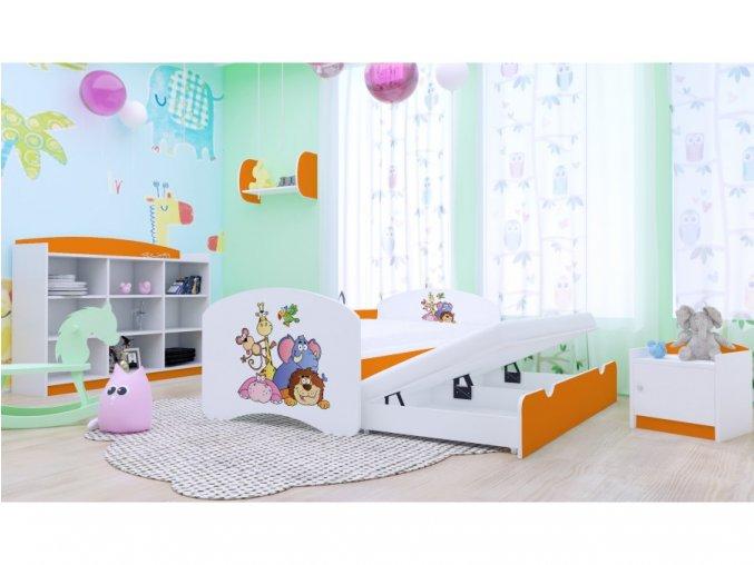 Detská rozťahovacia posteľ Happy P2 200x90 oranžová