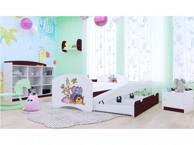 Happy P2 rozkladacia posteľ 200x90 gaštan - 89 motívov