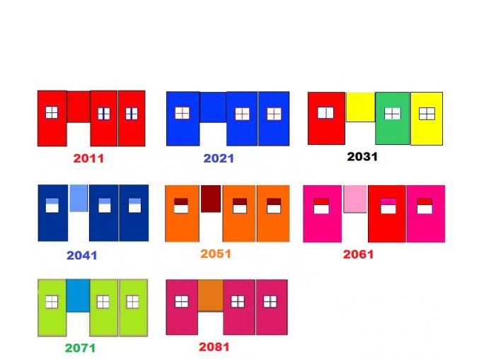 Záclonka na vyvýšenú posteľ Gabi/Gabika - viac farieb