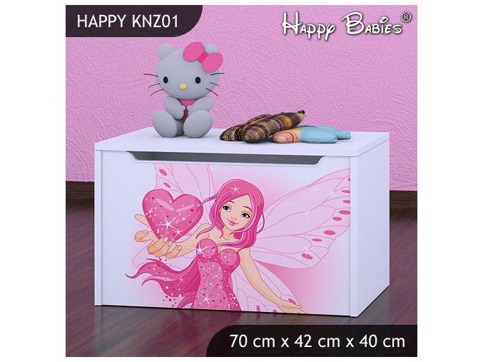 Truhlica Happy Biela KNZ01