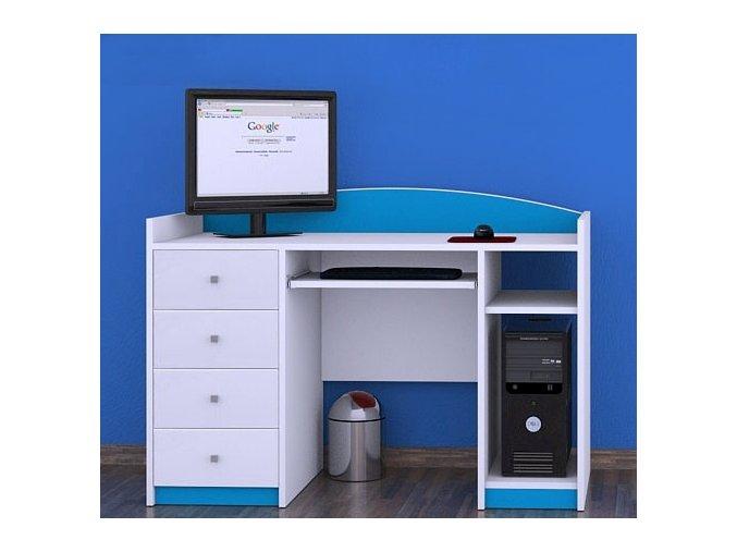 Písací stôl Happy Modrý B02