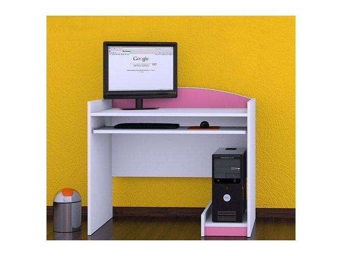 Detský počítačový stôl Happy Pink B12