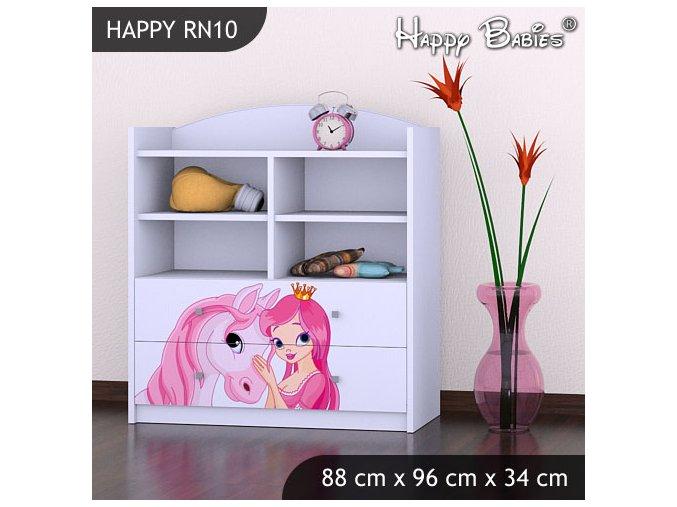 Happy Regál Biely RN10