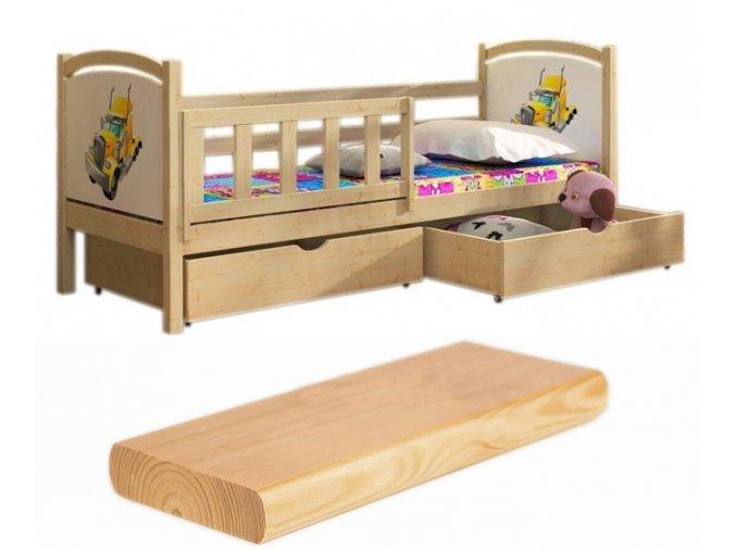 Oľga 13 200x90 detská posteľ s motívom