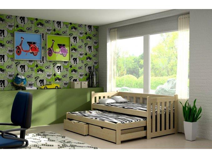 Veronika 2 180x80 posteľ s prístelkou