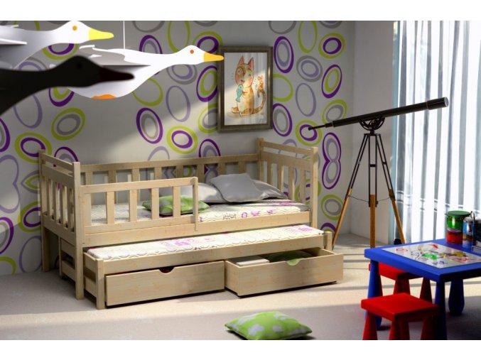 Veronika 4 200x90 posteľ s prístelkou