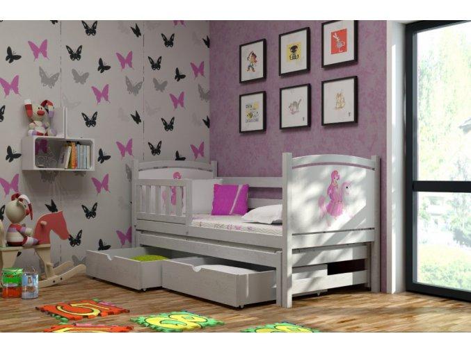 Veronika 5 200x90 posteľ s prístelkou