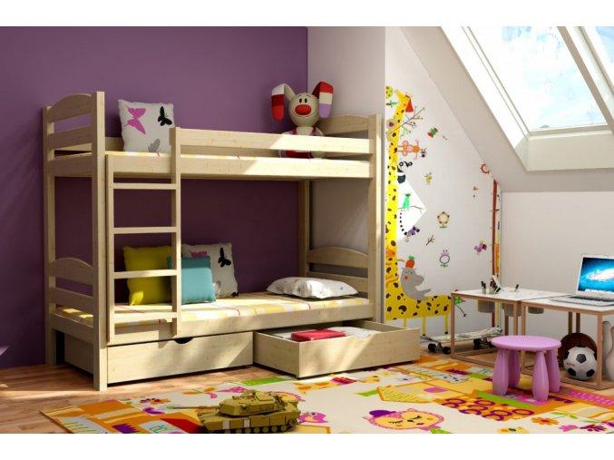Poschodová posteľ Paula 4 180x80