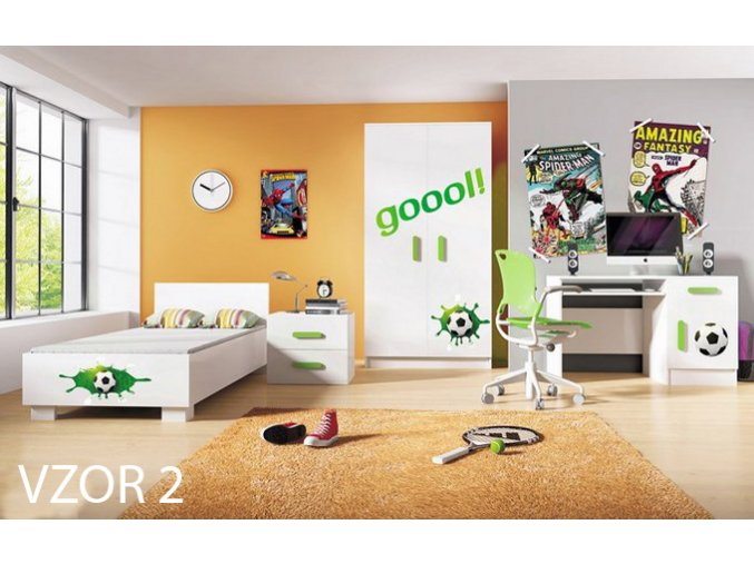 Detská izba LOOP futbal - vzor 2