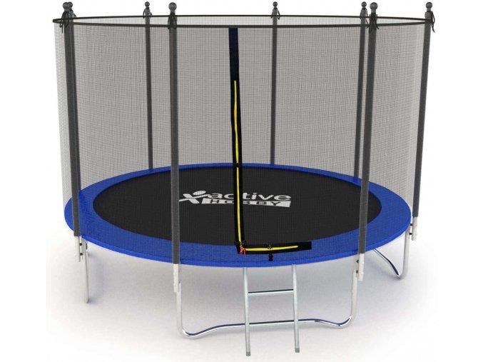 Trampolína v modrej farbe JustJump 305cm + ochranná sieť + rebrík