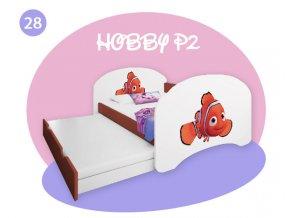 Hobby P2 160x80 calvados detská posteľ s prístelkou - rozprávkové motívy