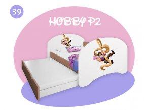 Hobby P2 160x80 buk - rozprávkové motívy