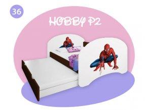 Hobby P2 160x80 rozprávkové motívy gaštan