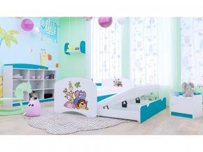 Happy P2 180x90 detská posteľ modrá - 89 motívov