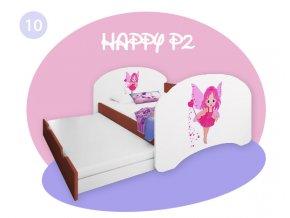 Happy P2 calvados 180x90 detská posteľ s prístelkou