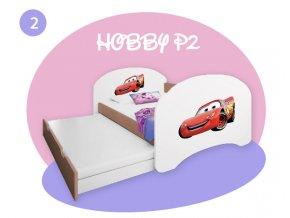 Detská posteľ s prístelkou Hobby P2 180x90 buk