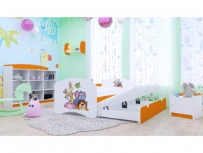 11277 detska roztahovacia postel happy p2 200x90 oranzova