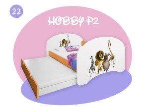 Hobby P2 rozkladacia posteľ pre deti oranžová 200x90