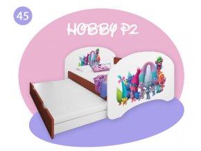 Detská posteľ rozkladacia Hobby P2 200x90 calvados