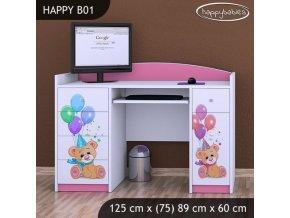 Písací stôl pre deti Happy Pink B01 - výpredaj!