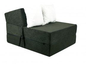 Fotel rozkladací čierny
