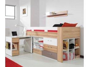 Bueno 19 vyvýšená multifunkčná posteľ s písacím stolom