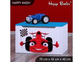 Truhlica Happy Modrá KNZ01