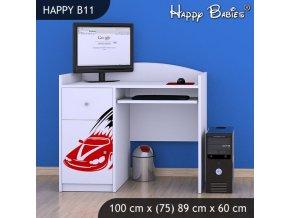 Písací stôl Happy Biely B11